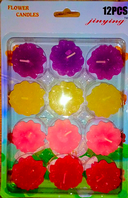 Pack of flower shaped candles (Code 2847)